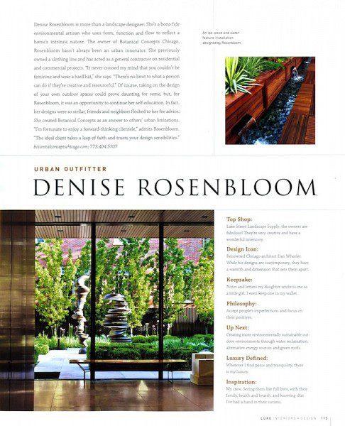 Chicago Landscape Designer Feature - Luxe Magazine