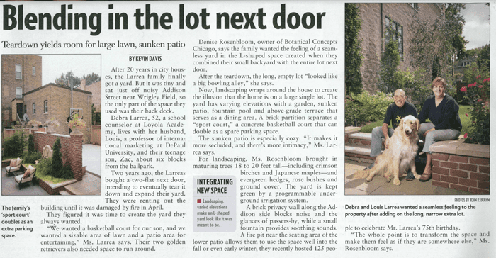 Chicago Landscaping Article - Crain's Chicago Business