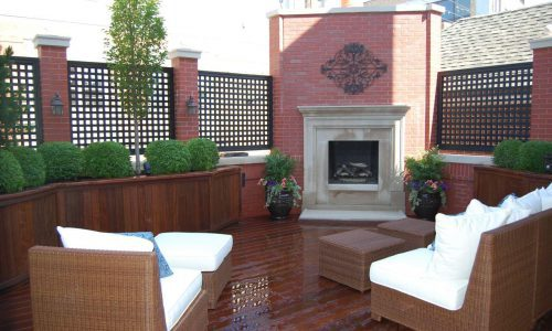 CS ChColorado Setting - Chicago Roof Deck Projectairs & Fireplace