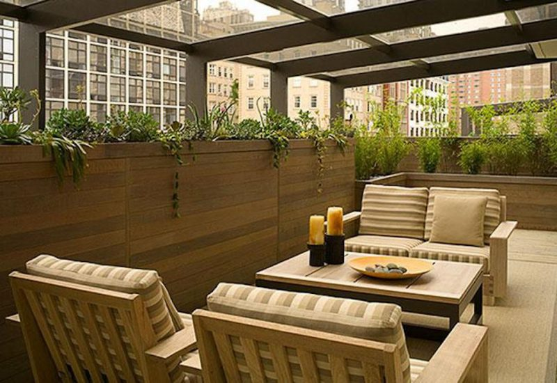 Glass Veiled Garden - Chicago Roof Deck Project