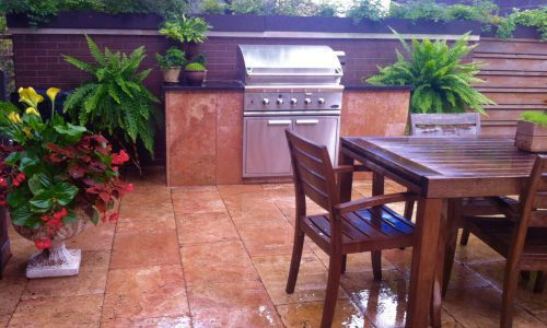 Travertine Terrace - Chicago Landscaping Project