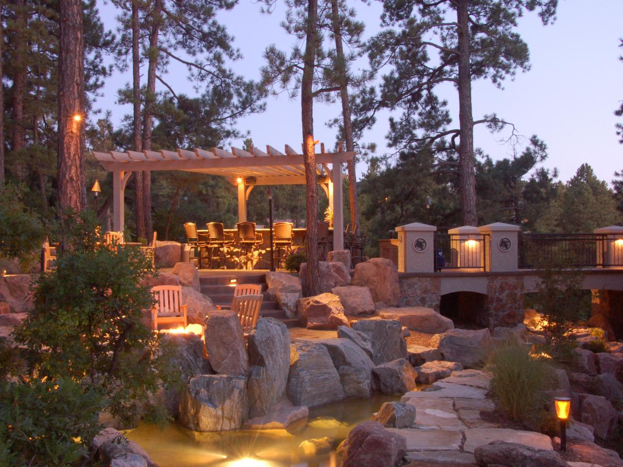Landscape lighting and garden lights - Image by HGTV