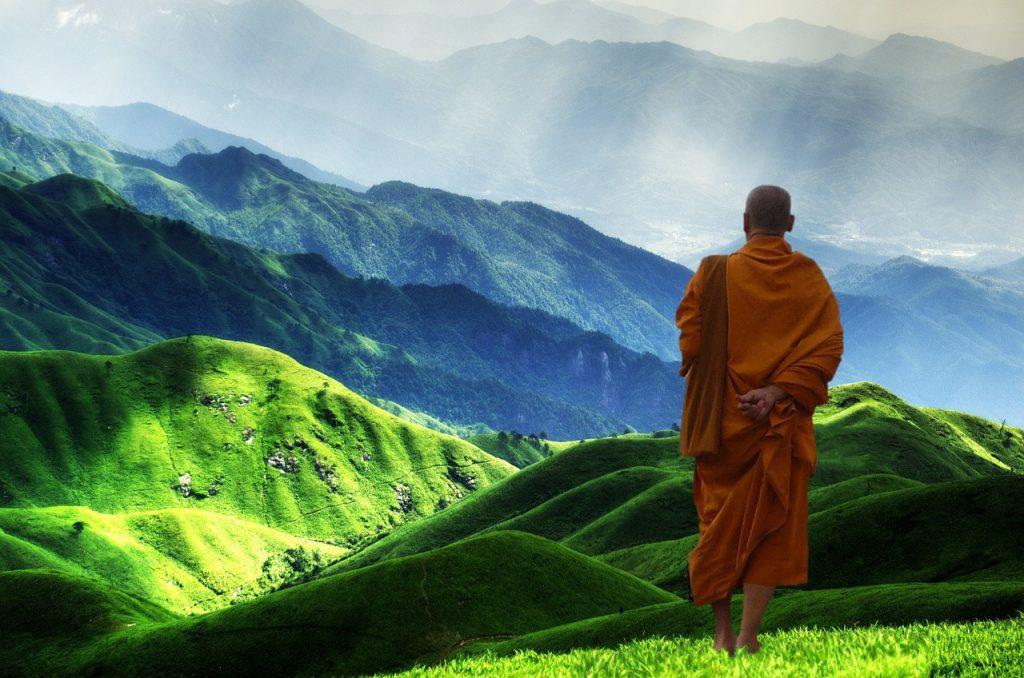 Zen Gardening and Buddhist Monks