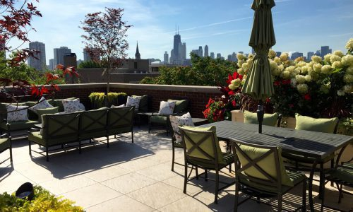 Porcelain Pavers in Chicago Garden Design