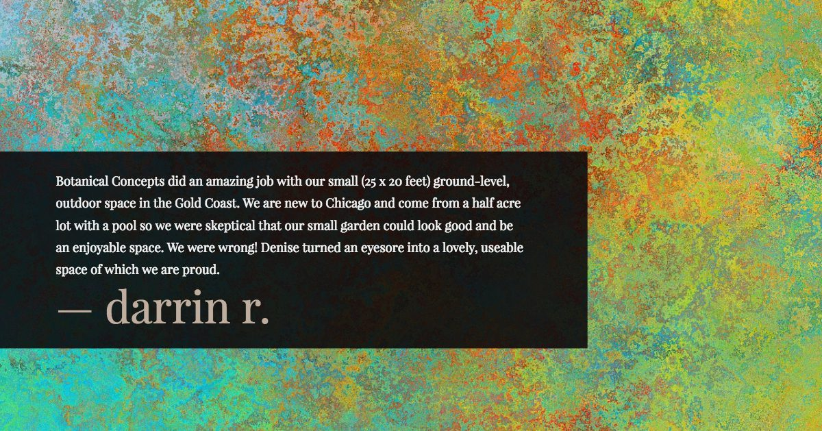 chicago client review - chicago landscaping
